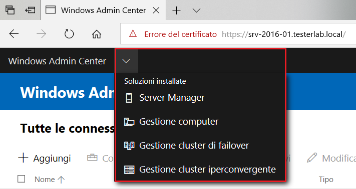 Windows Admin Center - Soluzioni