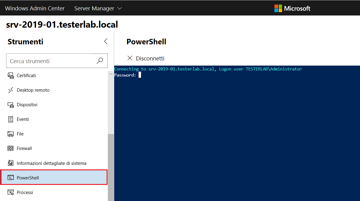 Windows Admin Center - PowerShell