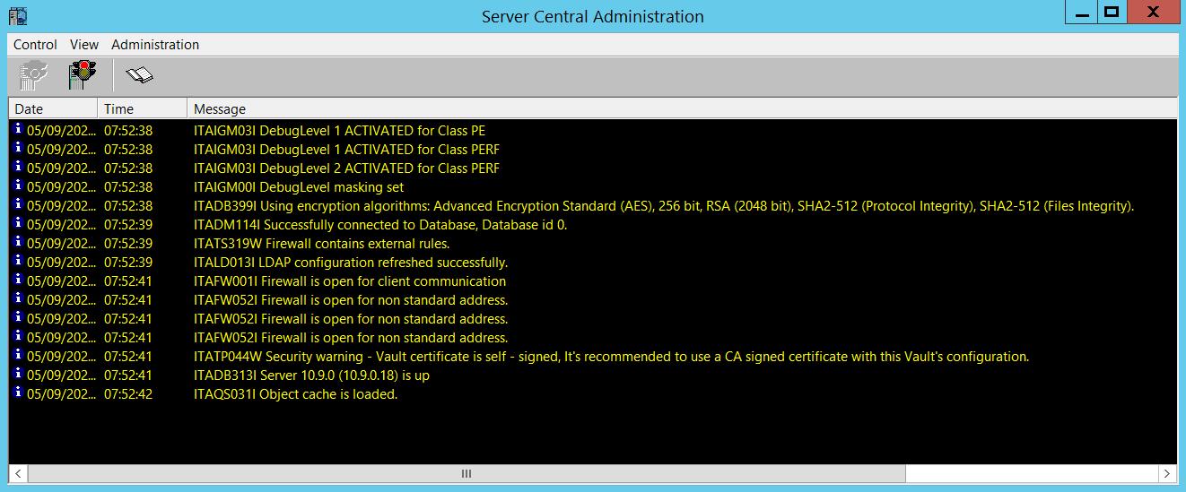 Server Central Administration