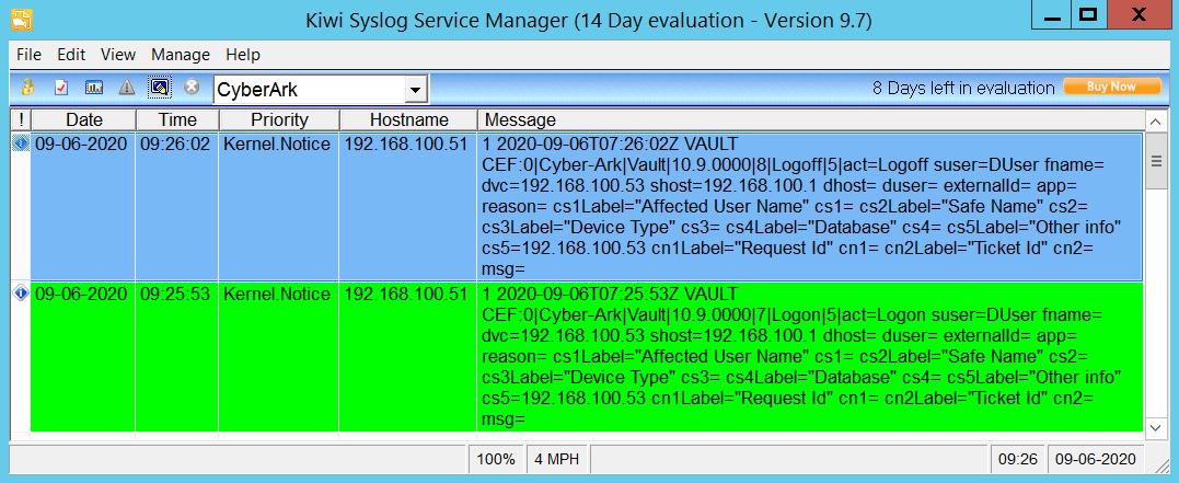 CyberArk PAS - Syslog