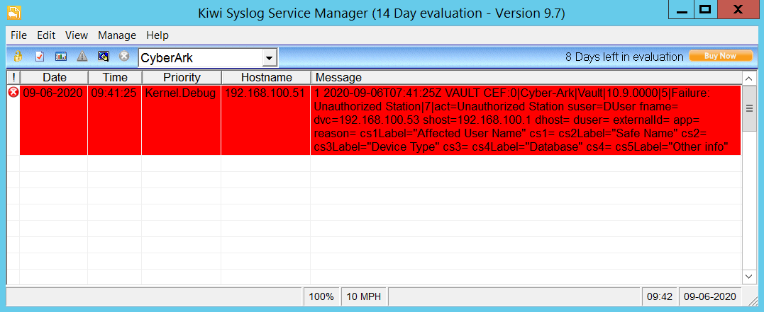Syslog: Suspended